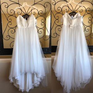 Galina Wedding Dress Gown White Bow Tulle